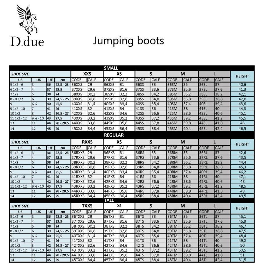D.Due Size Chart